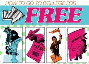 how-to-go-to-college-for-free-clip-art-illustration